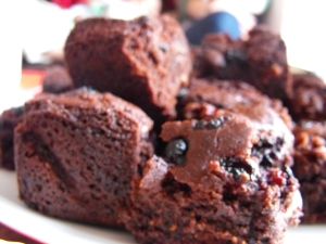 Chocolate Berry Brownies